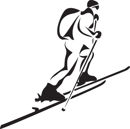 mountain skier: ski touring
