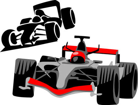 formulas: race car Illustration