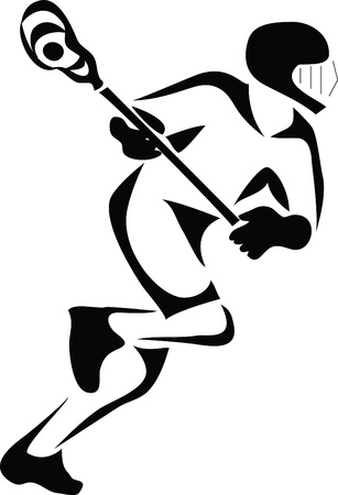 lacrosse logo Illustration