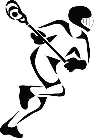 lacrosse: lacrosse logo Illustration