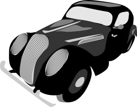 retro car Stock Vector - 10833607