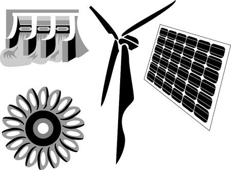 発電機: 代替エネルギー源  イラスト・ベクター素材