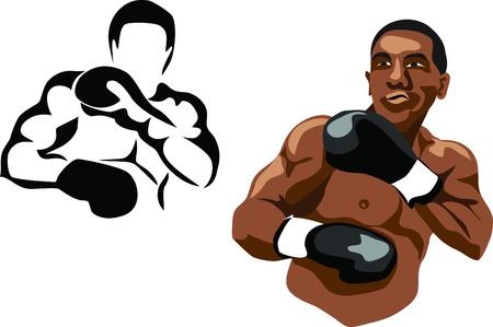 testépítő: bokszoló Illusztráció