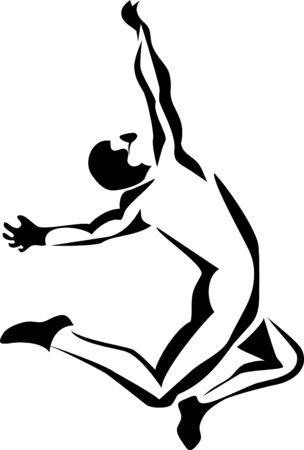 long jumper Vector