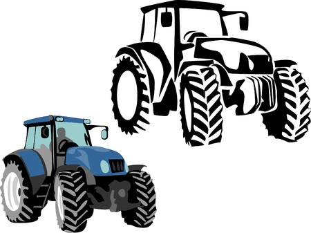 agricultural machine: tractor Illustration