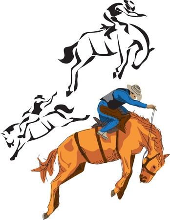 arena rodeo: horse rodeo Illustration