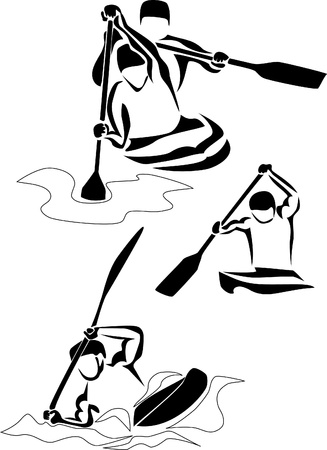 slalom: logo slalom kajakowy Ilustracja