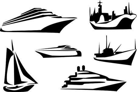 barcos insignia Ilustración de vector