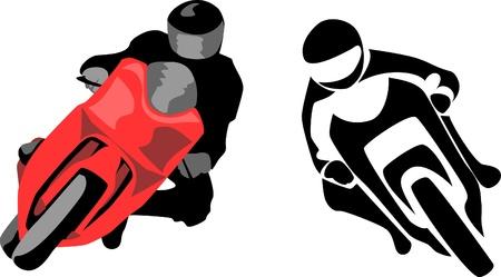 casco moto: logotipo de motociclista
