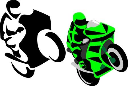 motorrijder logo Stock Illustratie