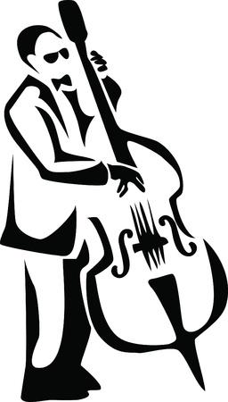 bass player: bassist Illustration