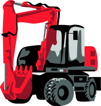 excavation: excavator Illustration