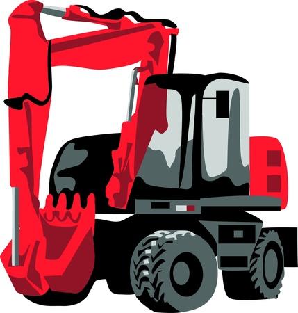 backhoe: excavator Illustration
