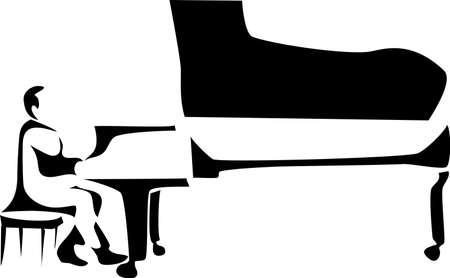 joueur de piano: piano