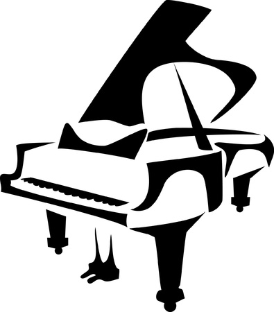 stylized piano Illustration