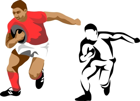rugby player Stock Vector - 10993912