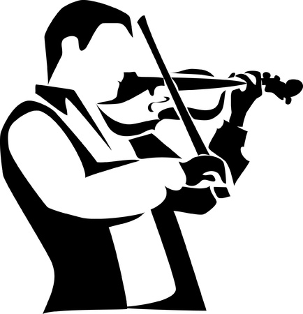 violinist logo Illustration