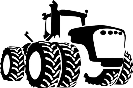 agricultural machine: tractor logo Illustration