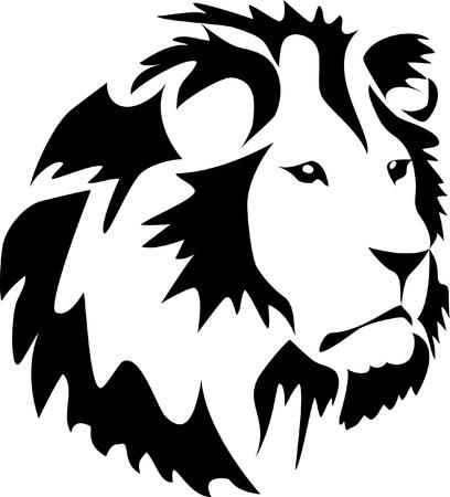 lion head tattoo Stock Vector - 11325038