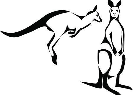 animal pouch: kangaroo logo