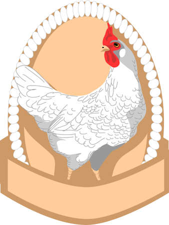 egg farm label Stock Vector - 13291834