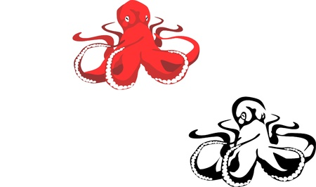 tentacles: red octopus