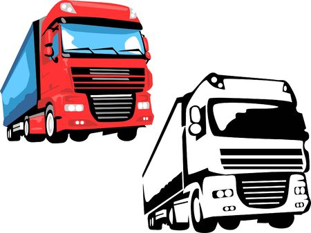 lorry truck Stock Vector - 13318730