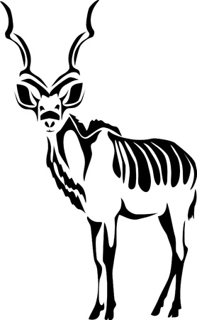 wildlife: stylized antelope kudu