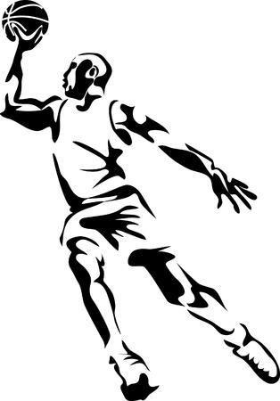 basket: giocatore di basket logo
