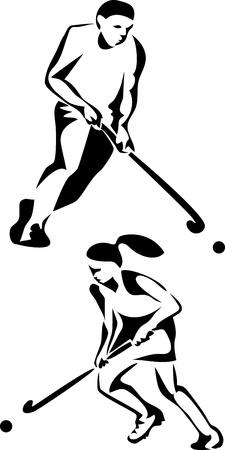 field hockey: hockey sobre hierba logo jugador