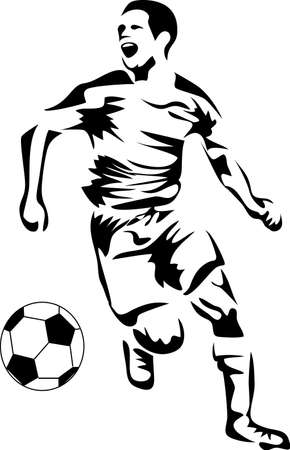 soccer player logo Illustration