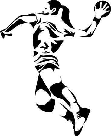 pallamano: donne pallamano logo
