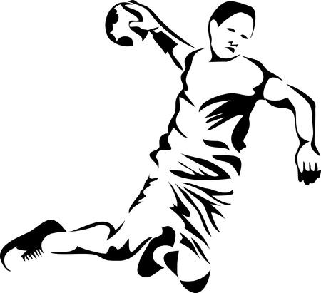 handball player logo