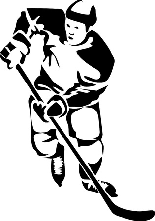 hockey player: hockey player logo Illustration