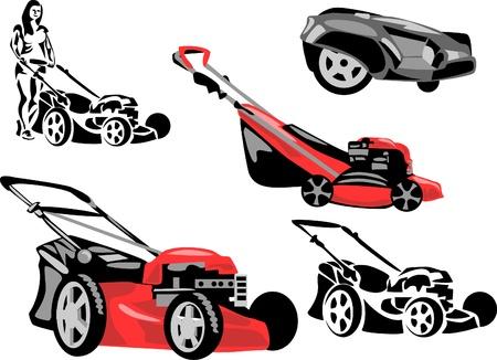 lawn mower: lawnmower Illustration