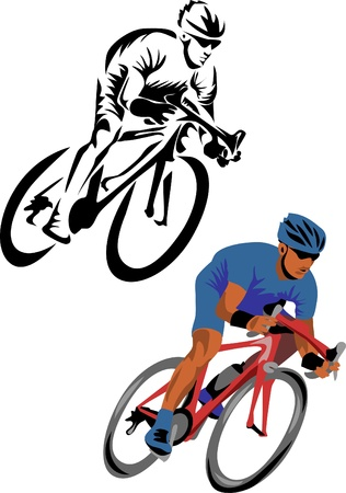 bicycling: road cyclist logo