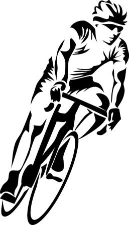 ciclista: carretera logo ciclista Vectores
