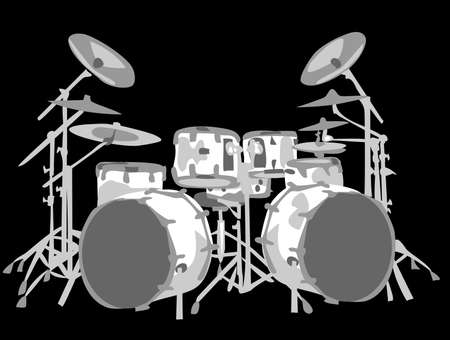 drum and bass: set of drums