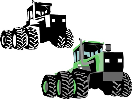 four wheel drive tractor Stock Vector - 16161567
