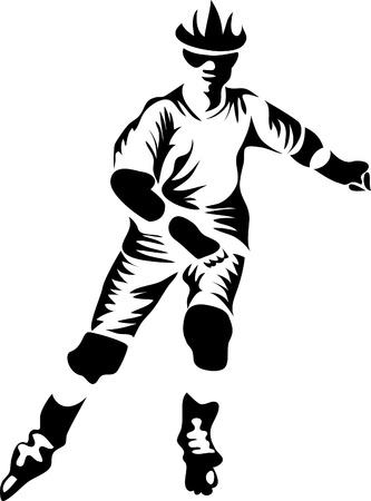 inline: in-line skater logo