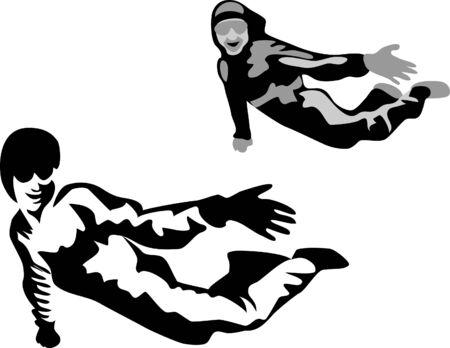 parachutist: free fall