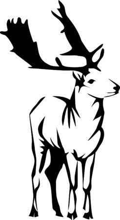 fallow: fallow deer logo