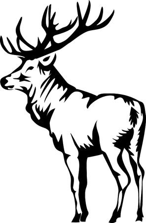 elanden logo Stock Illustratie