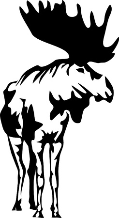 alces alces: Logotipo de los alces
