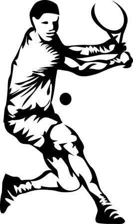 tennis player logo Vector