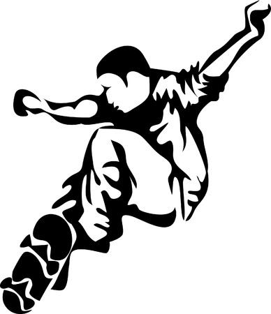 skate board: skateboarder Illustration