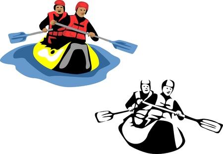 canoe: canoeing Illustration