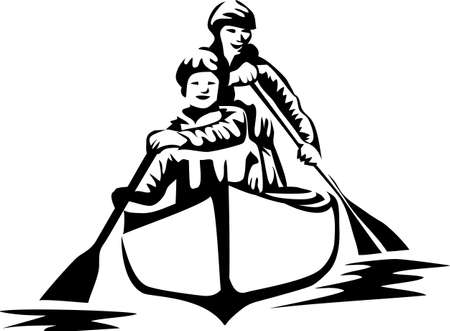 oar: canoeing Illustration