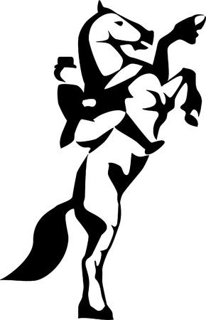dressage logo Stock Vector - 17031332