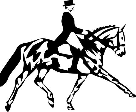 dressage: dressage logo Illustration